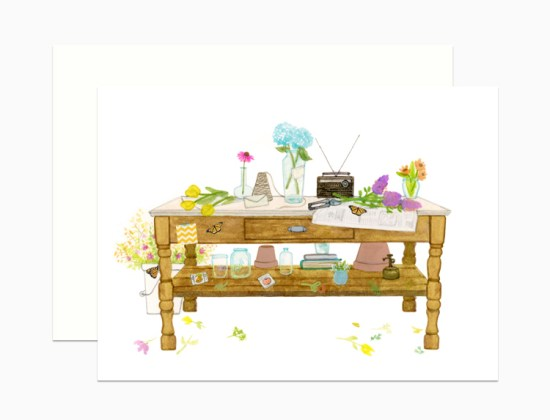 dearhancock springtime desk 550x420 Spring Cards from Dear Hancock