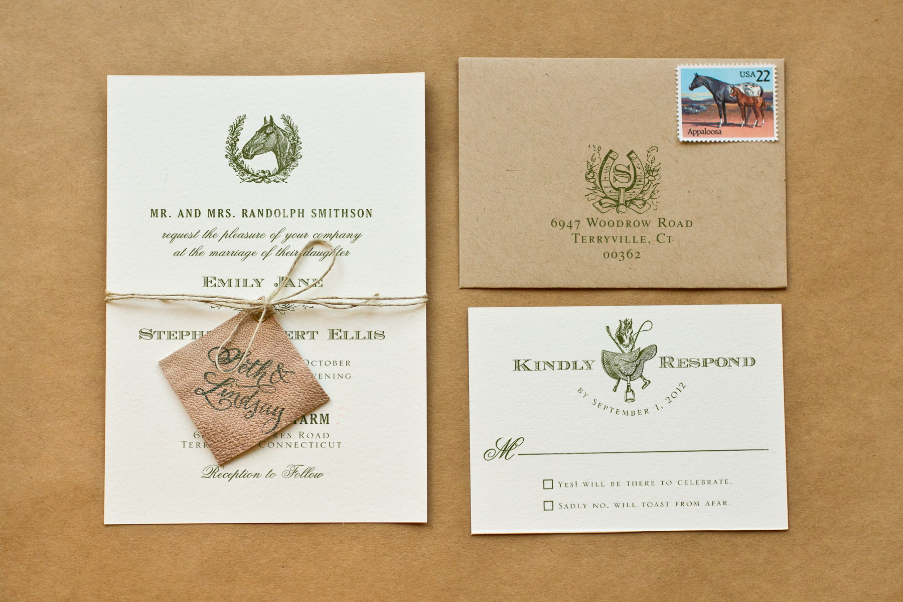Diy Wedding Invitations With Photo Diy Rubber Stamp Equestrian Wedding Invitations