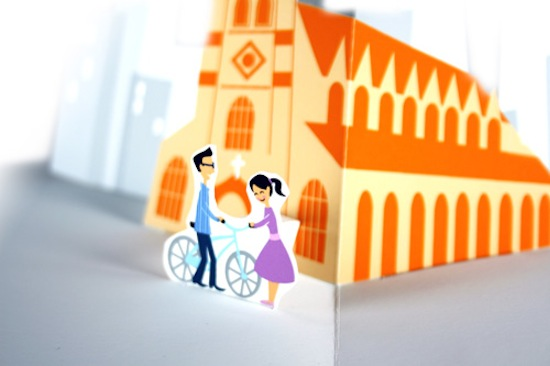 Paper Pop Up Engagement Proposal Jackie Huang2 A Paper Marriage Proposal Pop Up Book