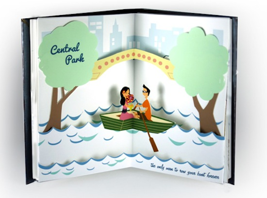 Paper Pop Up Engagement Proposal Jackie Huang4 A Paper Marriage Proposal Pop Up Book