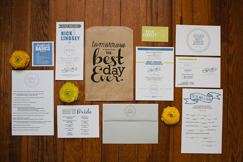 Nick + Lindseyu0027s Creative Wedding and Rehearsal Dinner Invitations - free printable guest list