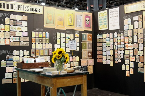 NSS 2012 Hammerpress 10 550x367 National Stationery Show 2012, Part 6