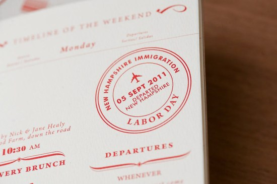 Red White Travel Inspired Wedding Invitations 20 550x365 Nicole + Chriss Modern Travel Inspired Wedding Invitations