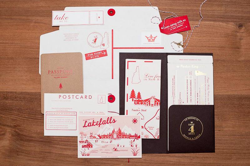 Nicole Chris39s Modern Travel Inspired Wedding Invitations