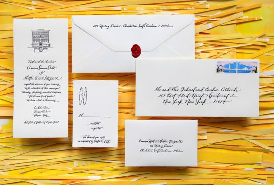 Wedding Invitations Ligature Collection Paperfinger 550x372 Ligature Wedding Invitation Collection by Paperfinger