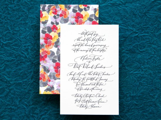 Wedding Invitations Ligature Collection Paperfinger5 550x412 Ligature Wedding Invitation Collection by Paperfinger
