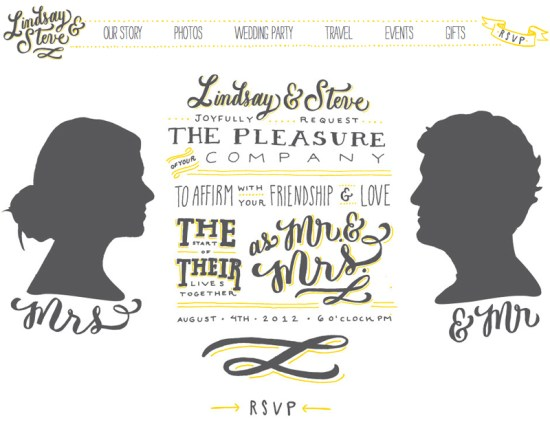 Hand Lettered Wedding Website Molly Jacques 550x429 Lindsay + Steves Hand Lettered Wedding Invitations