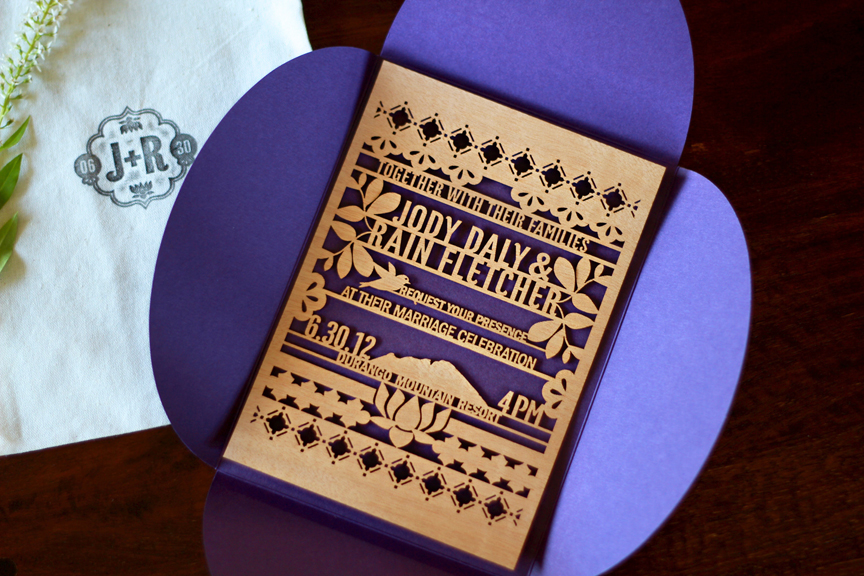 Jody Rain39s Eastern Inspired Lasercut Wood Wedding