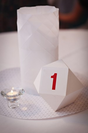 Geometric Table Numbers Matthew Parker Events Jenny Jimenez 300x450 Wedding Stationery Inspiraton: Geometric