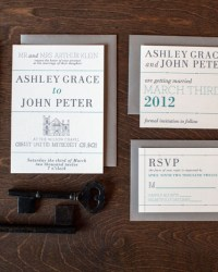 Letterpress Wedding Invitations by 9th Letter Press (2)