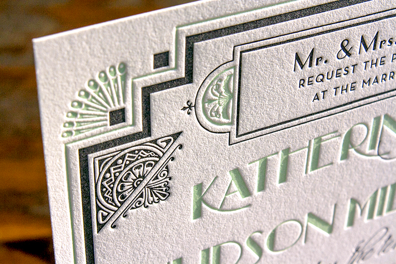 Great Gatsby-Inspired Art Deco Wedding Invitations