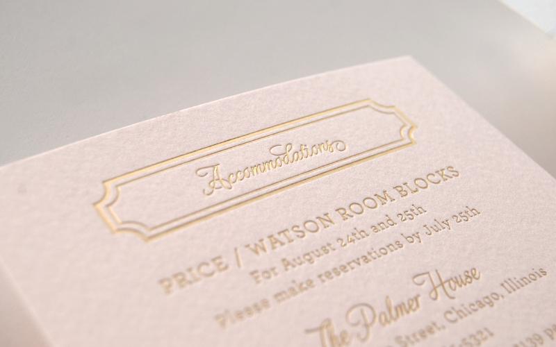 Lindsey Bradley39s Elegant Pink And Gold Foil Wedding
