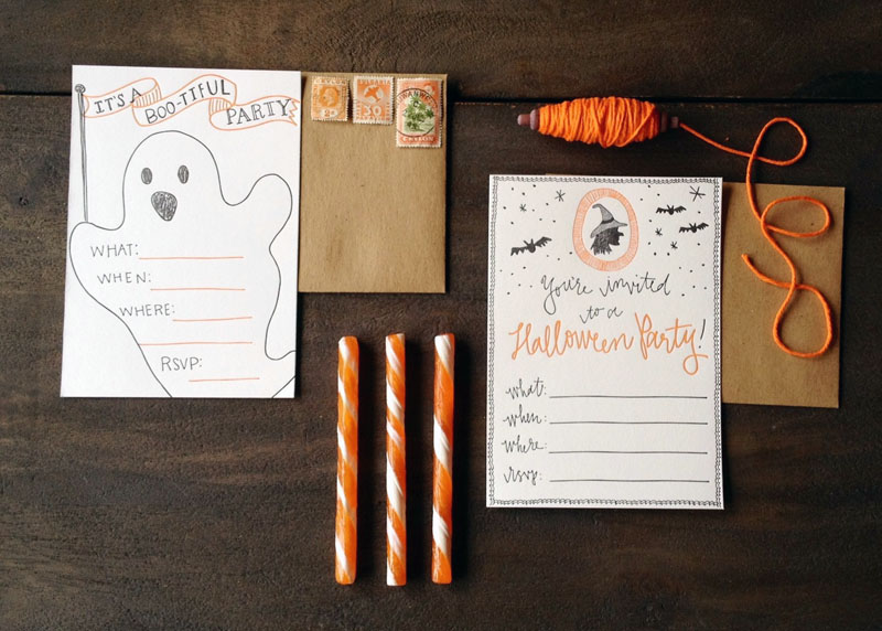 Letterpress Halloween Party Invitations - invitation for halloween party