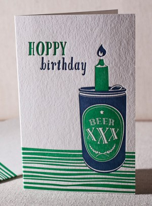 beer letterpresscard 300x407 Stationery A – Z: Birthday Cards for the Guys