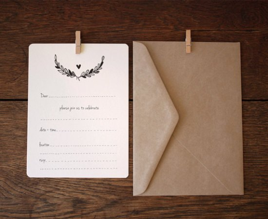 Black Wreath fill in Invitation 550x449 Stationery A – Z: General Party Invitations