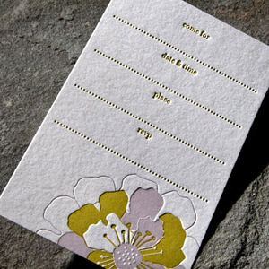 Bloom boxed letterpress petitecards1 Stationery A – Z: General Party Invitations