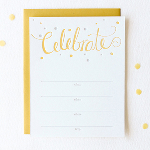 Celebrate Fill in Invitations2 Stationery A – Z: General Party Invitations