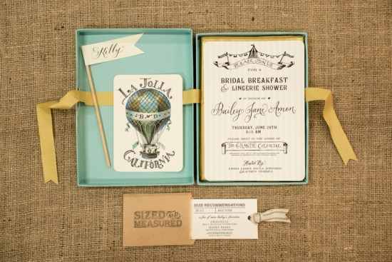 Creative Bridal Shower Invitations Antiquaria Design Studio2 550x367 Baileys Creative Bridal Shower Invitations