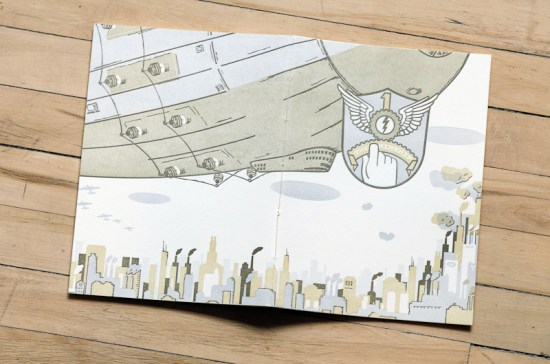 Airship Letterpress Graphic Novel Angel Bomb Design 7 550x364 Airship: A Letterpress Graphic Novel