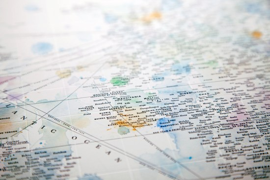 Design Ahoy Watercolor Letterpress Typography Map2 550x367 Quick Pick: Design Ahoy