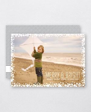 Hello Lucky Starlight Holiday Photo Card 300x367 Seasonal Stationery: Holiday Photo Cards