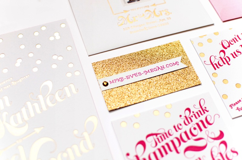 Megan Mike39s Whimsical Pink And Gold Confetti Wedding