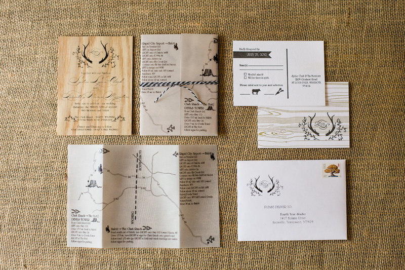 Sydney + Tim\u0027s Rustic Wood Wedding Invitations - rustic wedding invitation