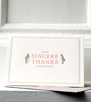 Sideshow Press Thank You Card 300x336 Stationery A – Z: Thank You Cards