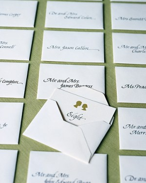 Silhouette Place Cards Hicks Paper Goods 300x375 Wedding Stationery Inspiration: Silhouettes