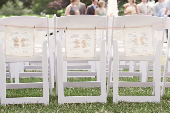 Silhouette Printed Ceremony Programs Ashley Brockinton Photography 550x366 Wedding Stationery Inspiration: Silhouettes