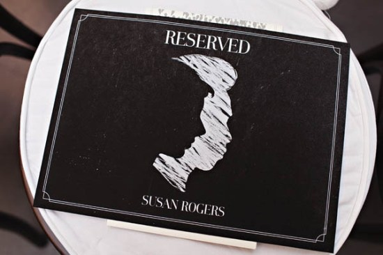 Silhouette Reserved Ceremony Signs Andrio Abero Studio on Fire Jenny Jimenez 550x366 Wedding Stationery Inspiration: Silhouettes