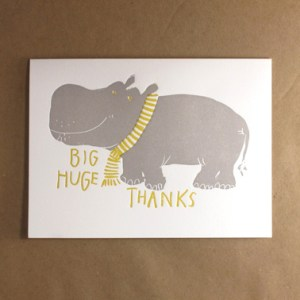 hippo bigthanks 300x300 Stationery A – Z: Thank You Cards