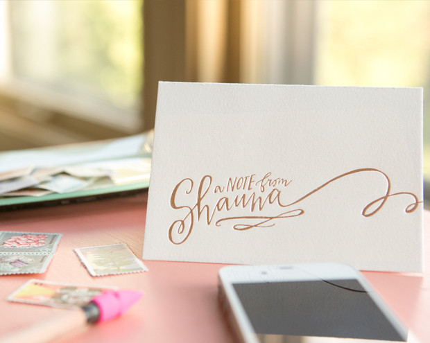 Hand Lettered Stationery from Lindsay Letters