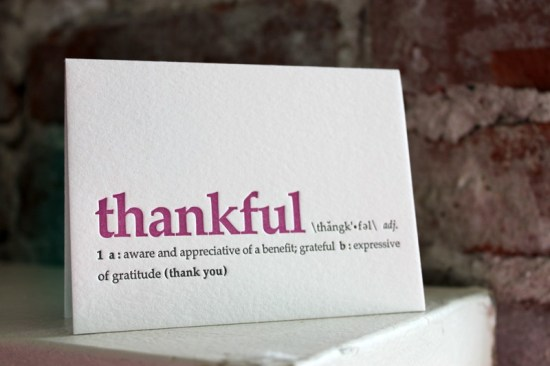 thankful definition 550x366 Stationery A – Z: Thank You Cards