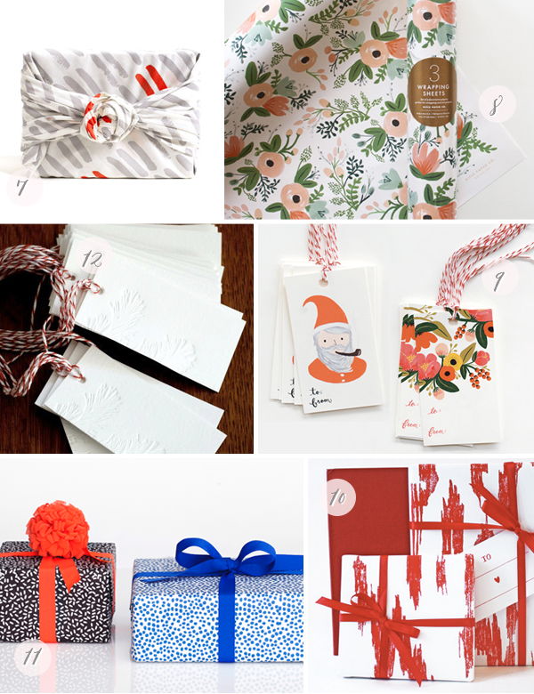 2012 Holiday Gift Wrap Part2 Seasonal Stationery: Holiday Wrapping Paper + Gift Tags