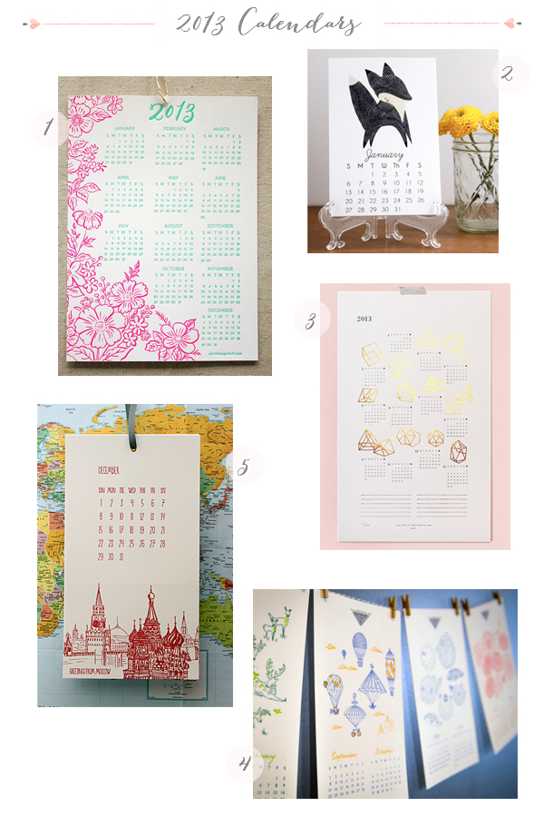 2013 Calendars Part6 Seasonal Stationery: 2013 Calendars, Part 5