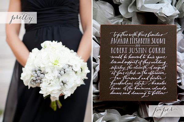Black White Gray Calligraphy Pretty + Paper