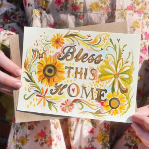 Bless This Home 300x300 Stationery A – Z: New Home Congratulations Cards