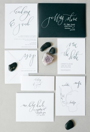 Classic Calligraphed Wedding Invitations Hazel Wonderland2 300x440 Calligraphy Wedding Invitation Collection from Hazel Wonderland