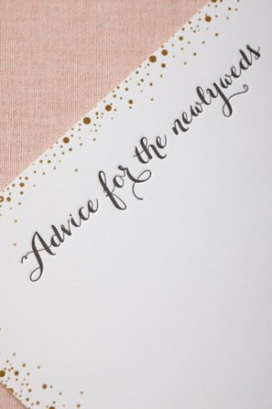 Confetti Advice Cards Sugar Paper for BHLDN 300x450 Wedding Stationery Inspiration: Confetti