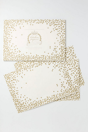 Confetti Paper Placemats Cake Vintage 300x450 Wedding Stationery Inspiration: Confetti