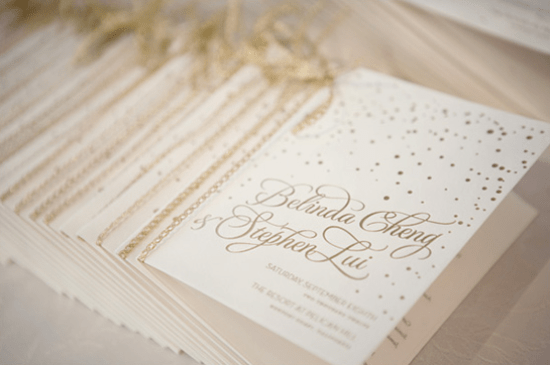 Confetti Wedding Programs Bella Figura via Francis Orr Chenin Boutwell Wedding Stationery Inspiration: Confetti