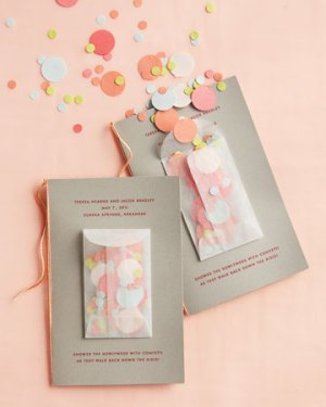 Confetti Wedding Programs Martha Stewart Weddings 300x375 Wedding Stationery Inspiration: Confetti