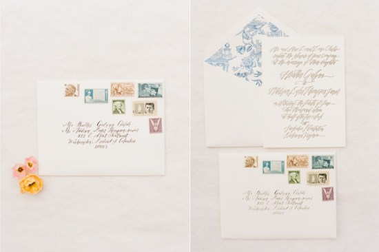 Creative Calligraphy Letterpress Wedding Invitations Holiday Cards 550x366 Heathers Creative Calligraphy Wedding Invitations + Holiday Cards