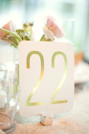 Gold Foil Table Numbers Sarah Yates Wedding Stationery Inspiration: Silver + Gold
