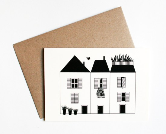 Maisons de ville 550x444 Stationery A – Z: New Home Congratulations Cards