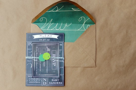 School House Inspired Chalkbaord Paper Goods The Paper Suite1 550x365 Youve Got Mail School Inspired Paper Goods