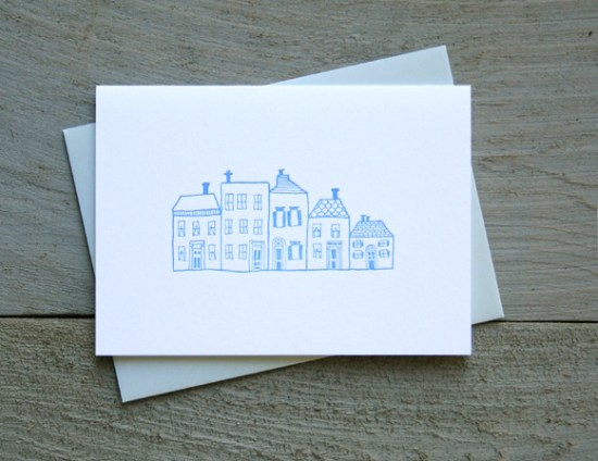 Townhouses Every Day Card 550x424 Stationery A – Z: New Home Congratulations Cards