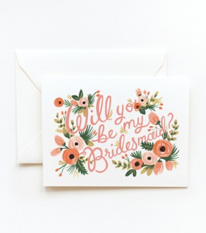 Will you be my Bridesmaid 300x340 Stationery A – Z: Bridesmaid and Maid of Honor Cards