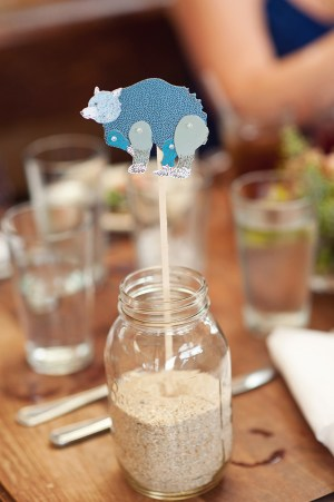 Animal Puppet Table Number Furze Chan Oh Darling 300x451 Wedding Stationery Inspiration: Animal Motifs